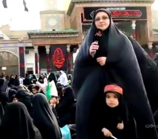 گزارش برنامه در شهر از همایش سه ساله های حسینی پخش شده از شبکه پنج سیما